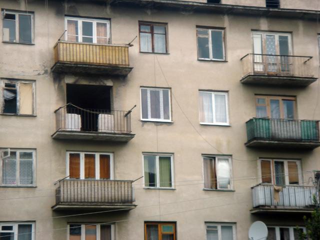 Фото: Гагра, разрушенный дом