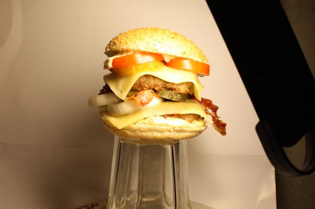 Процесс съёмки бургера