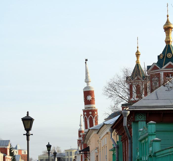 Падающая башенка в Коломенском кремле