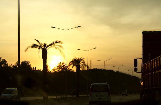 Закат в Турции
