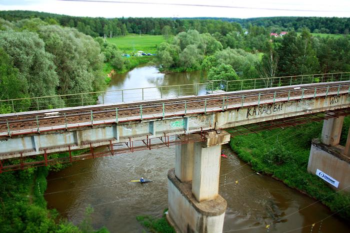 Фото: Вид с моста в Манихино