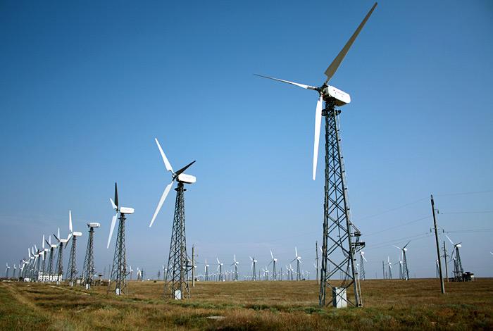 ВЭС (ветряки) недалеко от КаZантипа