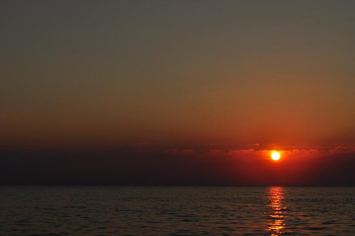 Фото: закат в Каче