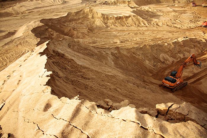 Фото: песчаный карьер в Сычёво