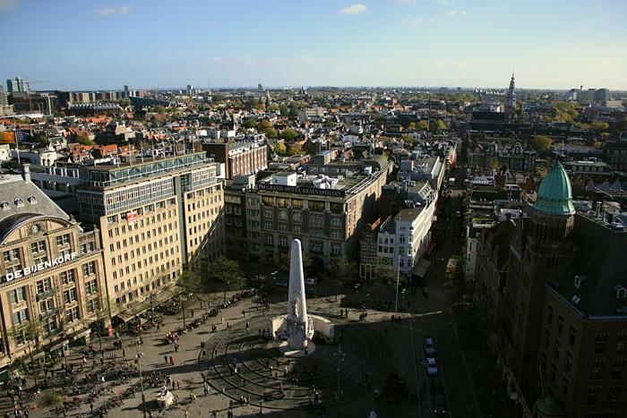 Фото: Амстердам, вид сверху днём