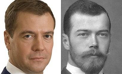Дмитрий Медведев и царь Николай Второй очень похожи