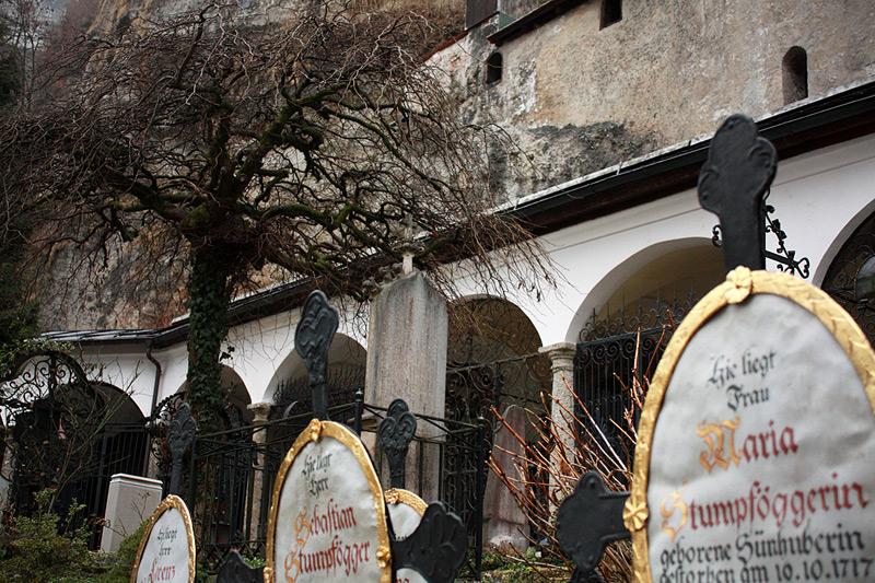 старинное кладбище в центре Зальцбурга