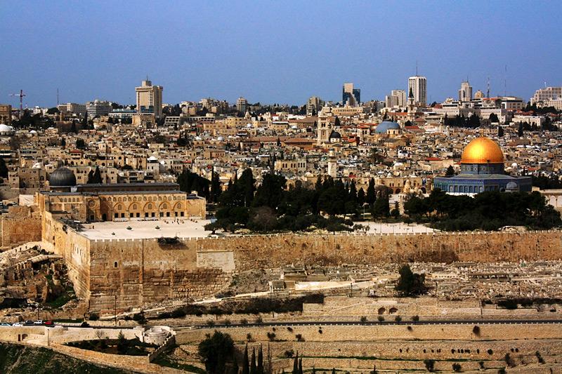 Вид на Иерусалим с масляничной горы
