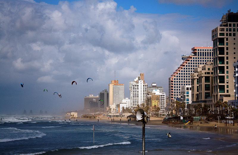 Фото: Кайт в Тель-Авиве