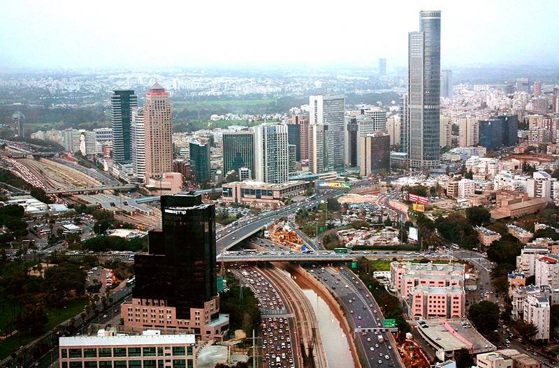 Фото: Вид на Тель-Авив с 49 этажа