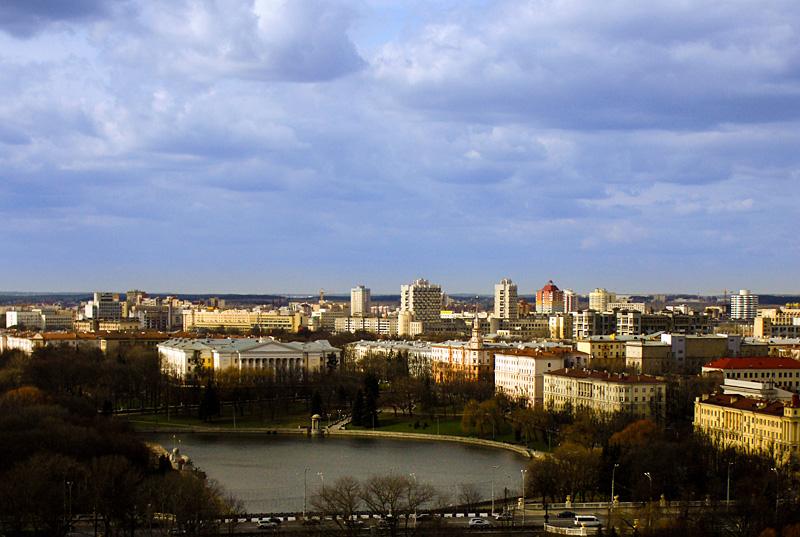 Фото: Вид на Минск с колеса обозрения