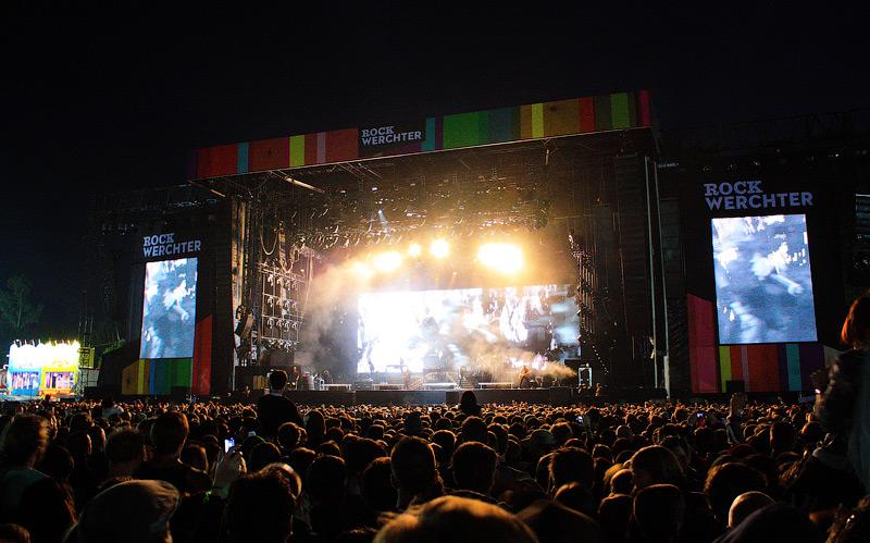 выступление Linkin Park на Rock Werchter 2011