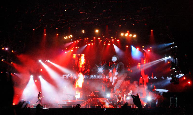Фото: выступают Linkin Park на Rock Werchter 2011