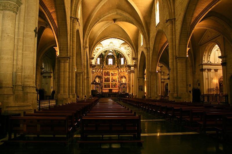 Фото: внутри валенсийского собора
