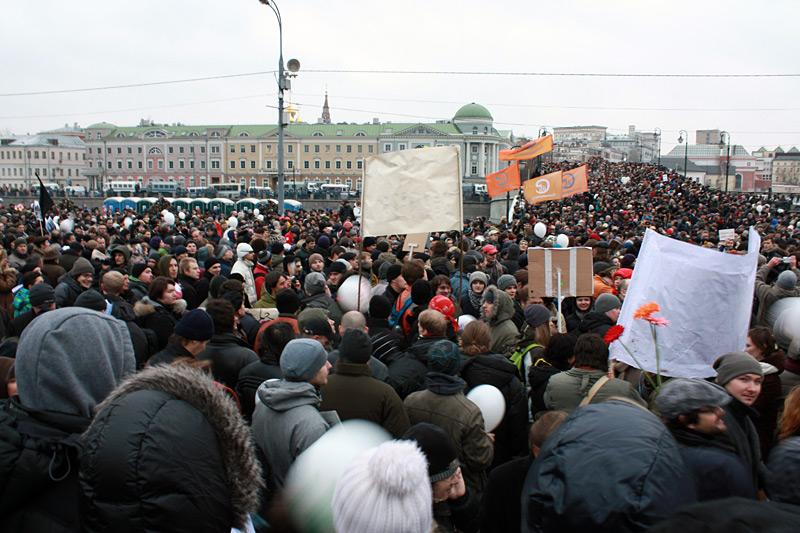 Фото: Митинг в Москве на Болотной площади. 10 декабря 2011