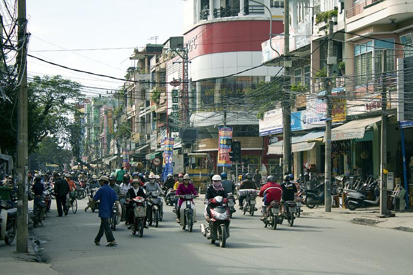 Движение на мопедах во Вьетнаме