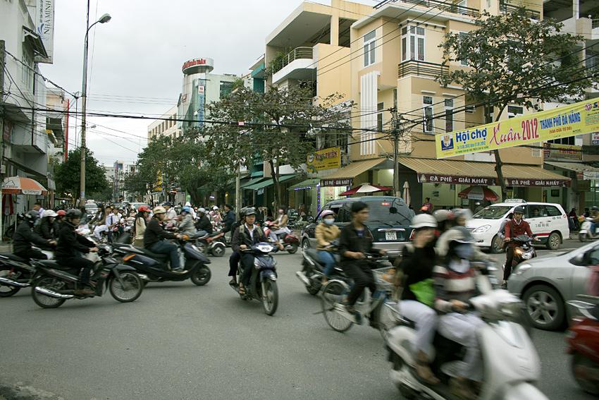 перекрёсток в Дананге, Вьетнам