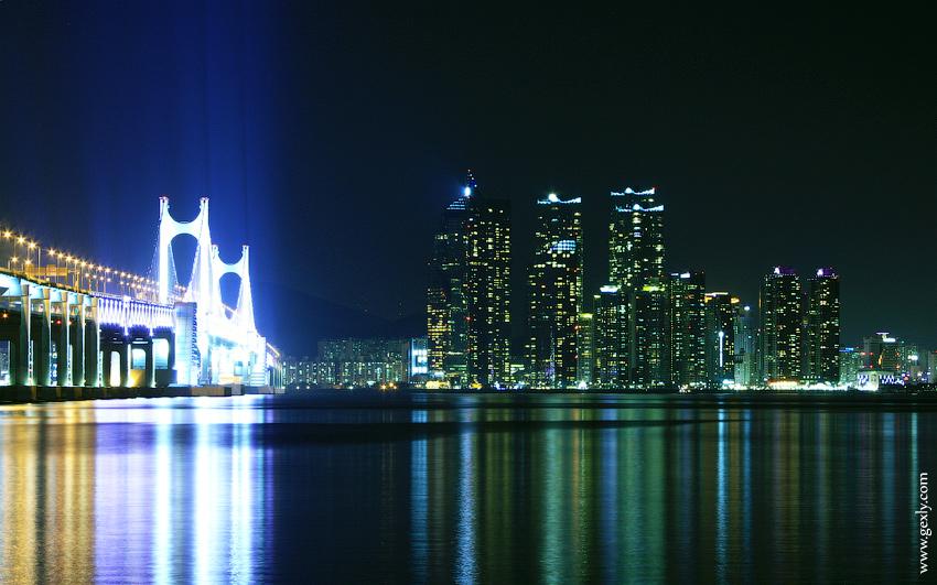 Пусан вечернее фото города