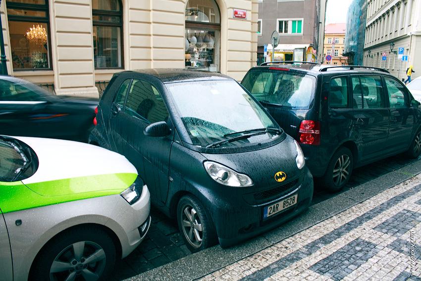 Парковка Smart в Праге
